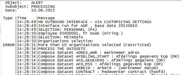 application log